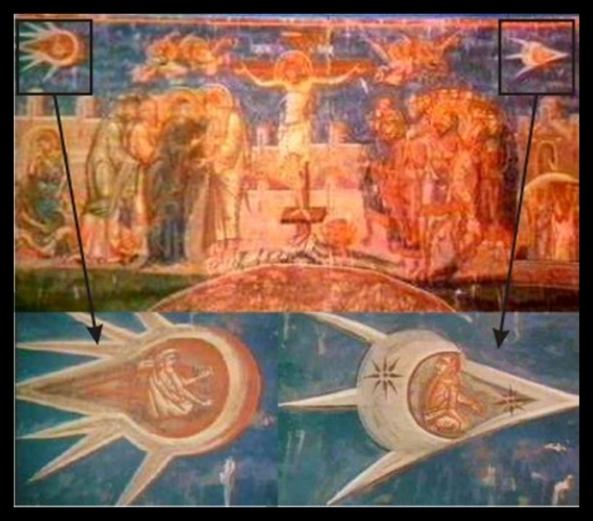 """OVNI que aparece en la obra """"La crucifixión"""""""